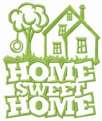 Home sweet home countryside embroidery design