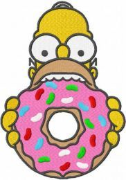 Homer Donut embroidery design