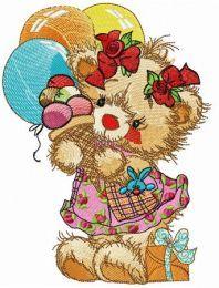 Ice cream for teddy bear