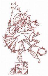 I'm Christmas fairy embroidery design 3