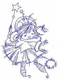 I'm Christmas fairy embroidery design 4