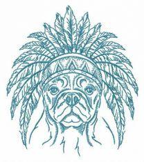 Indian warrior's dog