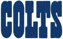 Indianapolis Colts wordmark logo machine embroidery design