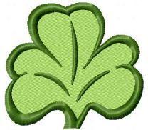 Irish clover free embroidery design