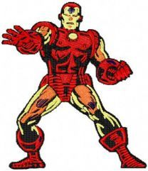 Iron Man embroidery design 1