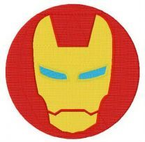 Iron Man round badge