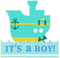 It;s a boy! machine embroidery design