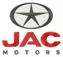 JAC motors logo embroidery design