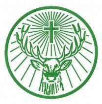 Jägermeister alternative logo embroidery design