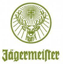 Jägermeister logo embroidery design