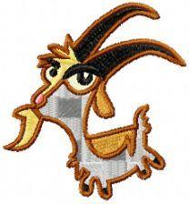 Jeb Goat embroidery design