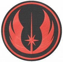 Jedi Order logo embroidery design