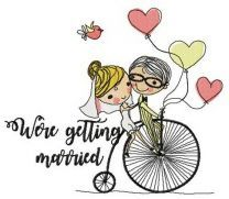 Just married on bike