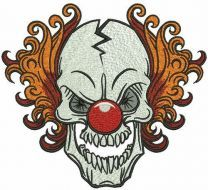 Killer Clown embroidery design