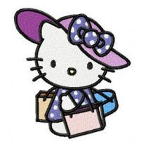 Hello Kitty Lady embroidery design