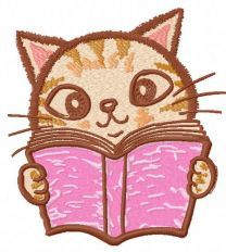 Kitty reading book