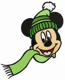 Knitted winter set for Mickey
