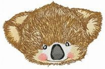 Koala muzzle embroidery design 2