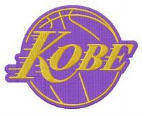Kobe Bryant Lakers embroidery design