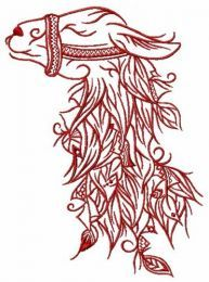 Lama embroidery design 2