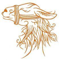 Lama embroidery design 3