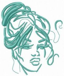 Languishing look embroidery design