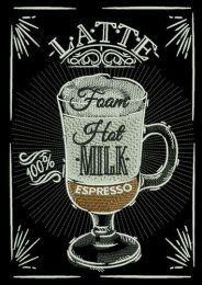 Latte recipe embroidery design