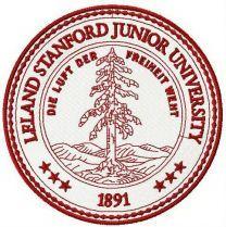 Leland Stanford Junior University logo machine embroidery design
