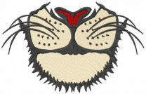 Lion face mask embroidery design