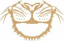 Lion mask embroidery design