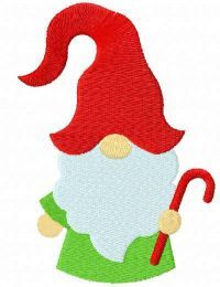 Small Christmas dwarf free embroidery design