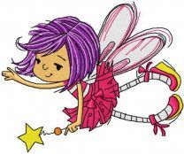 Little cute fairy with magic wand