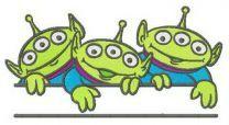 Little Green Men monogram embroidery design