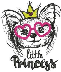 Little Princess chihuahua embroidery design