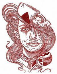 Longhaired gambler sketch