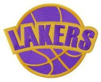 Los Angeles Lakers logo embroidery design 2