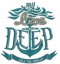 Love deep like ocean machine embroidery design