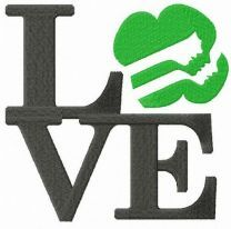 LOVE Girl Scouts embroidery design