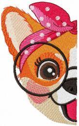 Love my glasses embroidery design