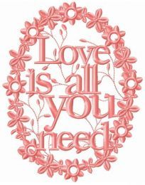 Love is all you need frame
