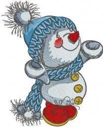 Love winter embroidery design