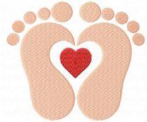Loving baby footprints