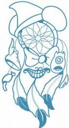 Magic blue dreamcatcher