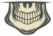 Male skull smile embroidery design