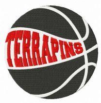 Maryland Terrapins basketball logo embroidery design