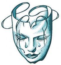 Mask of sadness