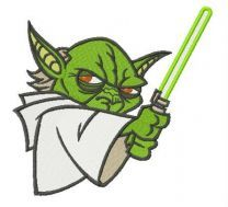 Master Yoda embroidery design