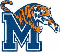 Memphis Tigers Alternate Logo machine embroidery design