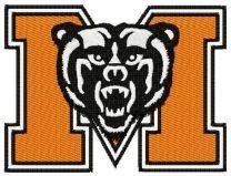 Mercer Bears logo machine embroidery design