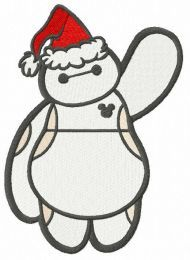 Merry Christmas Baymax embroidery design